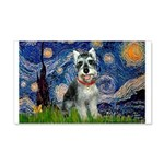 Starry Night /Schnauzer(#8) 20x12 Wall Decal