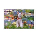 Lilies / M Schnauzer 20x12 Wall Decal