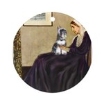 Whistler's Mother /Schnauzer Ornament (Round)