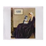 Whistler's Mother /Schnauzer Throw Blanket