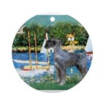 PS G. Schnauzer & Sailboats Ornament (Round)