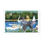 PS G. Schnauzer & Sailboats 20x12 Wall Decal