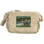 PS G. Schnauzer & Sailboats Messenger Bag