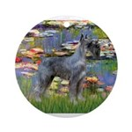 Lilies #2 & PS Giant Schnauze Ornament (Round)