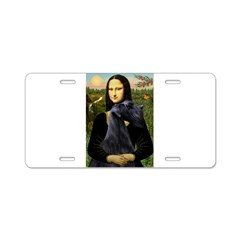Mona Lisa /giant black Schnau Aluminum License Pla