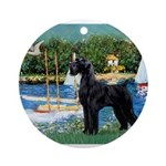 SCHNAUZER & SAILBOATS Ornament (Round)