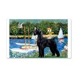 SCHNAUZER & SAILBOATS 20x12 Wall Decal