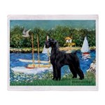 SCHNAUZER & SAILBOATS Throw Blanket