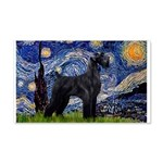 Starry Night / Schnauzer 20x12 Wall Decal