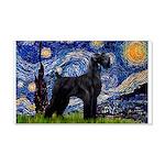 Starry Night / Schnauzer 20x12 Wall Decal