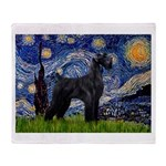 Starry Night / Schnauzer Throw Blanket