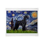 Starry Night / Schnauzer Throw Blanket