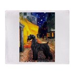 Cafe & Giant Schnauzer Throw Blanket