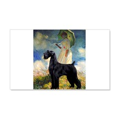 Umbrella/Giant Schnauzer (black) 20x12 Wall Decal