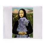 Mona /Scot Deerhound Throw Blanket