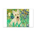 Irises / Scottie (w) 20x12 Wall Decal