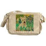 Irises / Scottie (w) Messenger Bag