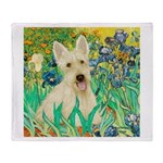 Irises / Scottie (w) Throw Blanket