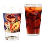 Mandolin / Scottie (w) Drinking Glass
