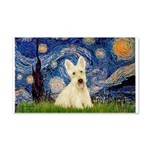 Starry Night / Scottie (w) 20x12 Wall Decal