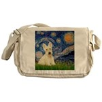 Starry Night / Scottie (w) Messenger Bag