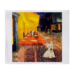 Cafe / Scottie (w) Throw Blanket