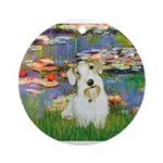 Lilies (#2)/Sealyham L2 Ornament (Round)