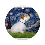 Starry Night/Sealyham L1 Ornament (Round)