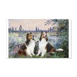 Seine / 2 Shelties (dl) 20x12 Wall Decal