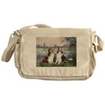 Seine / 2 Shelties (dl) Messenger Bag
