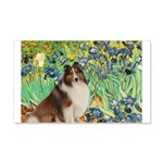 Irises / Sheltie 20x12 Wall Decal