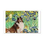 Irises / Sheltie 20x12 Wall Decal