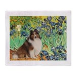 Irises / Sheltie Throw Blanket