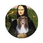 Mona Lisa's Sheltie (S) Ornament (Round)
