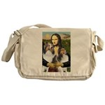 Mona Lisa / 2 Shelties (DL) Messenger Bag