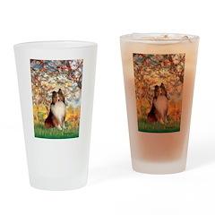 Spring / Sheltie (#1) Drinking Glass