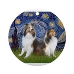 Starry / Two Shelties (D&L) Ornament (Round)
