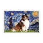 Starry Night / Sheltie (s&w) 20x12 Wall Decal