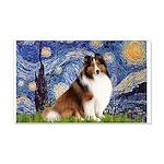 Starry Night / Sheltie (s&w) 20x12 Wall Decal