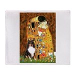 Kiss/Tri Color Sheltie Throw Blanket