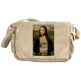 Mona Lisa/Shih Tzu (P) Messenger Bag