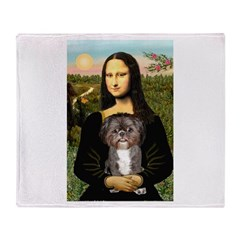 Mona / Shih Tzu(br&w) Throw Blanket