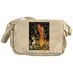 Mid.Eve / Siberian Husky Messenger Bag