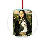 Mona Lisa & Siberian Husky Ornament (Round)
