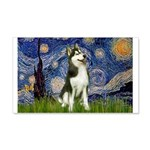 Starry Night & Husky 20x12 Wall Decal