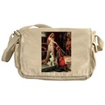 Princess / Siberian Husky Messenger Bag