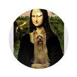 Mona Lisa / Silky T Ornament (Round)