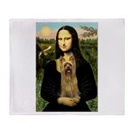 Mona Lisa / Silky T Throw Blanket