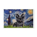 Starry / Black Skye Terrier 20x12 Wall Decal