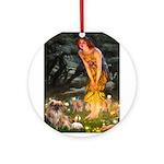 Fairies / Tibetan Spaniel Ornament (Round)